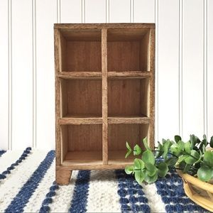 Other - Handmade wooden miniature cubby storage display